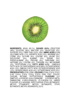 Ingredients of an All Natural Kiwi ENGLISH