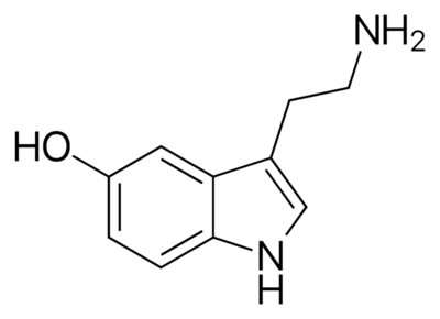 happy serotonin molecule