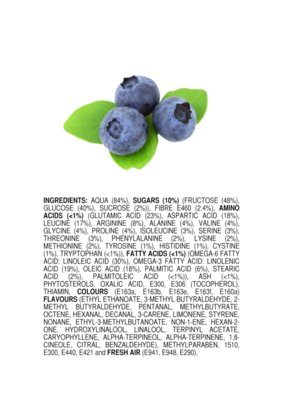 Ingredients of All Natural Blueberries ENGLISH